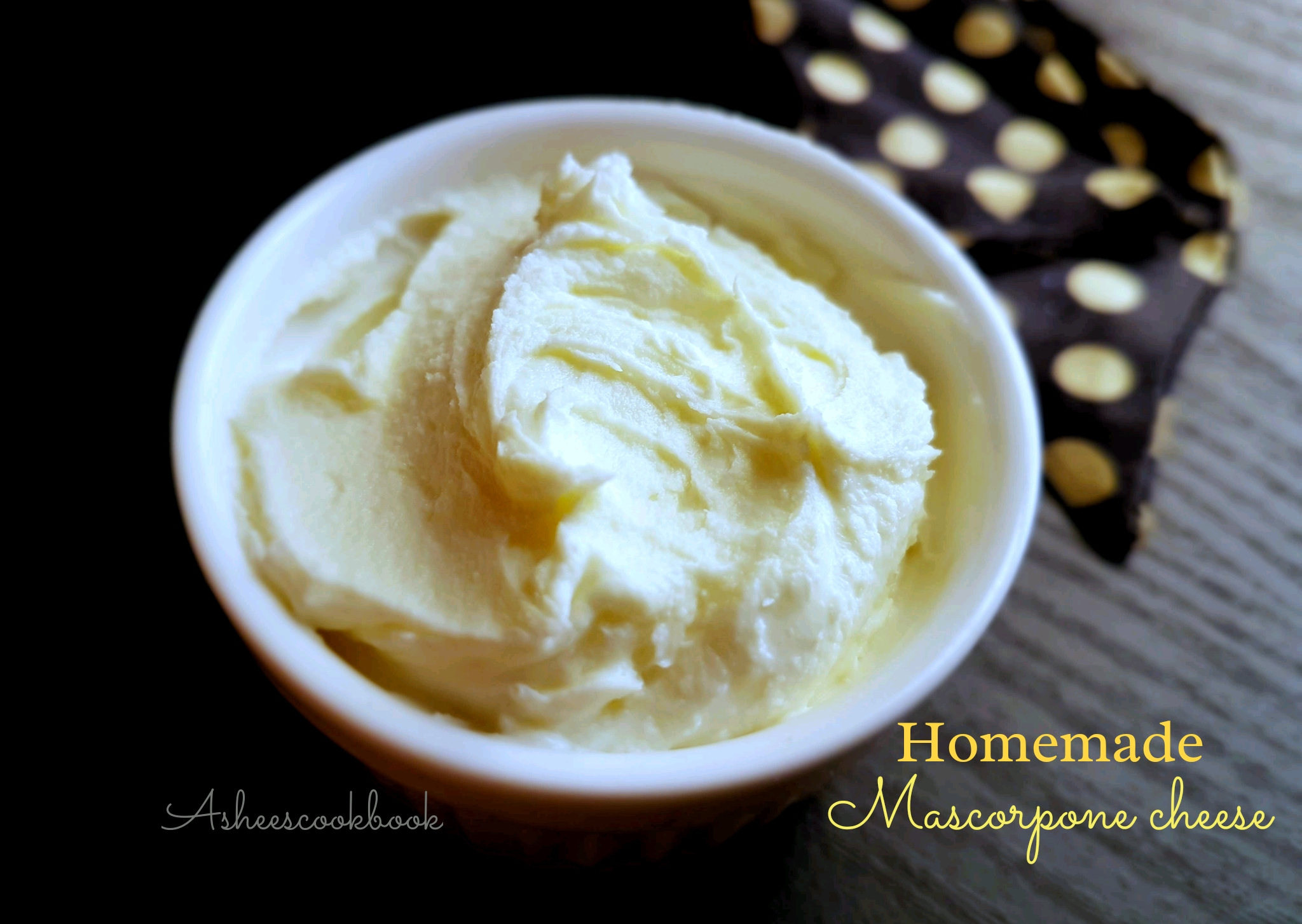 Homemade Mascarpone Cheese