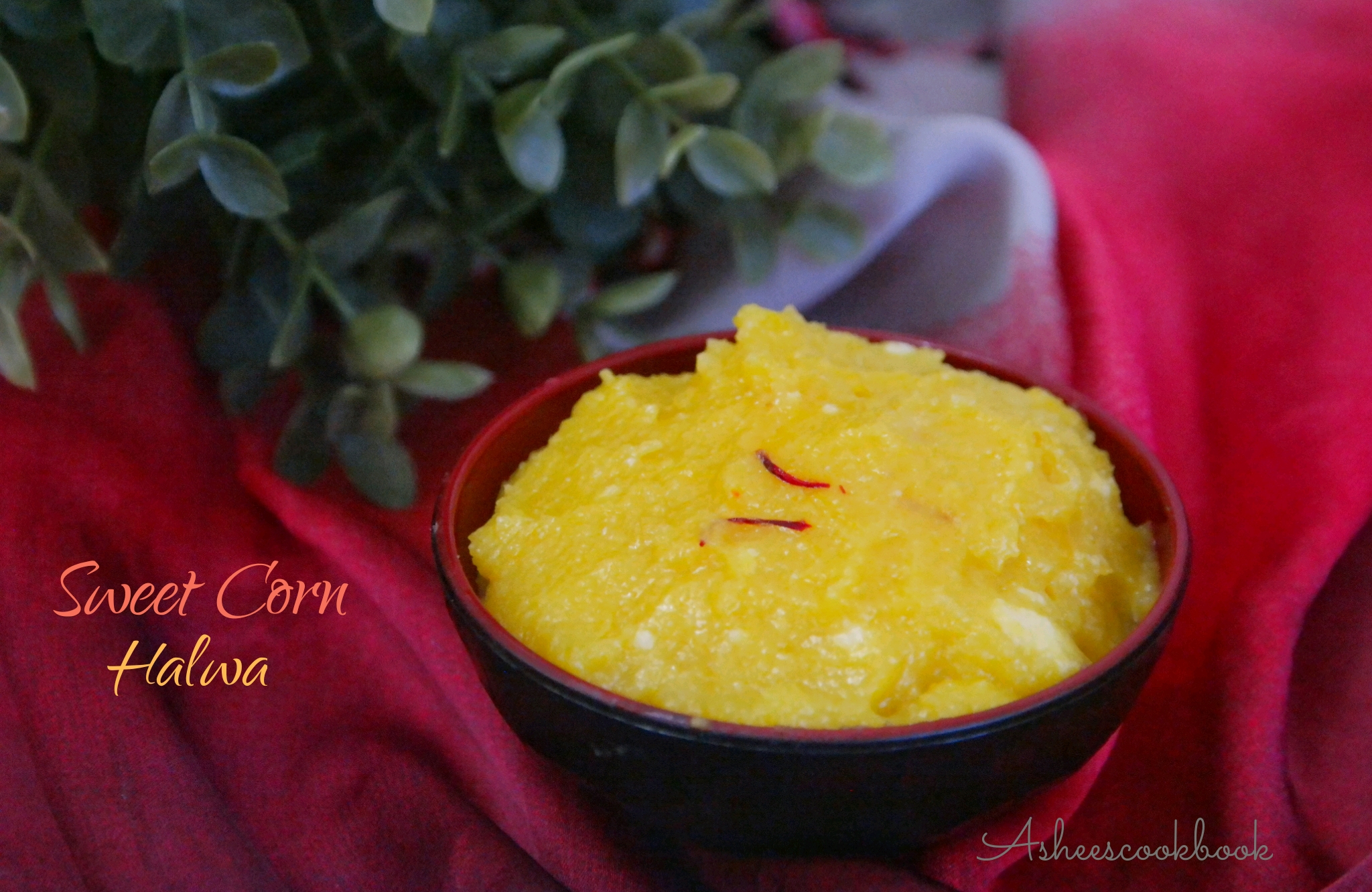 sweetcorn halwa